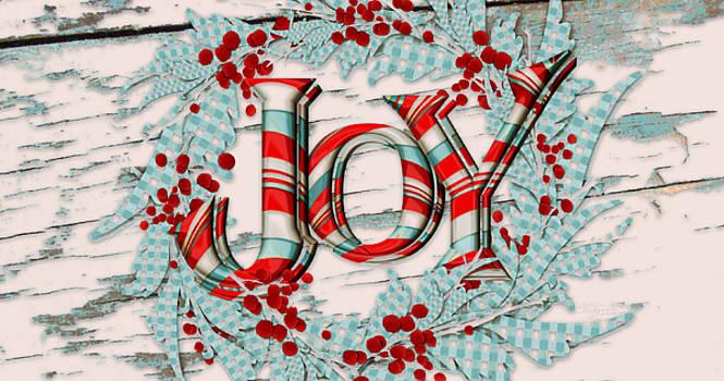 Christmas Joy Wreath by Sabrina Farmer