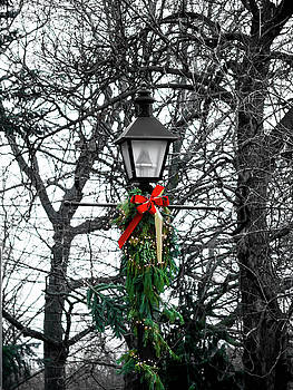 Christmas Lamppost by Rae Tucker