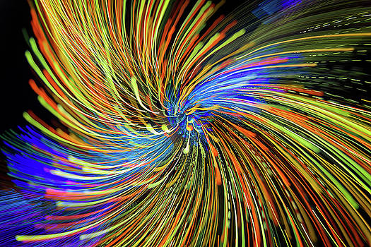 Christmas Lights Abstract IV by Rick Berk