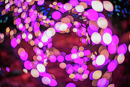 Christmas Lights Abstract by Rick Berk