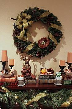 Christmas Mantel by Sherry Hahn