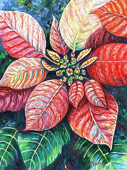 Linda Mears - Christmas Poinsettia panel one of two