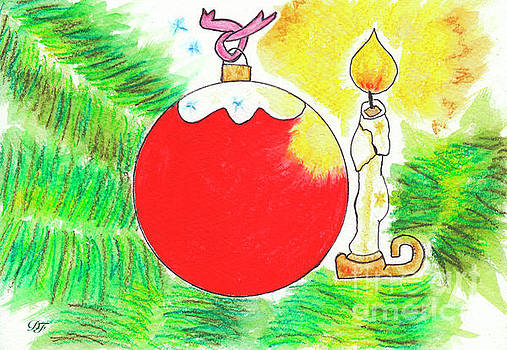 Dominique Fortier - Red Christmas Ball and Candle