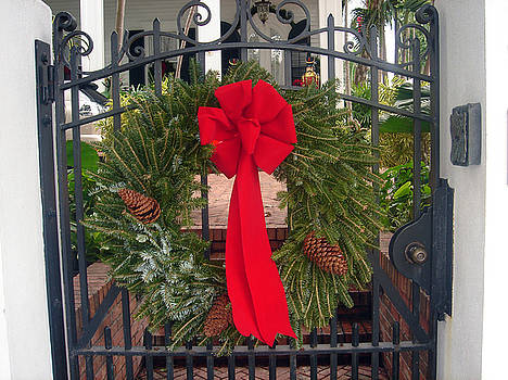 Susanne Van Hulst - Christmas Ribbon on iron door