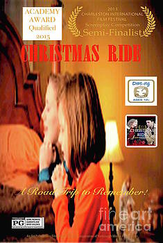 Christmas Ride Family Poster by Karen E. Francis by Karen Francis