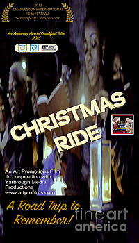 Christmas Ride Poster with Choir by Karen Francis