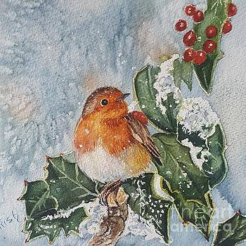 Christmas Robin by Patricia Pushaw