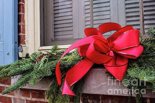 Sandy Moulder - Christmas Spray on Window Sill