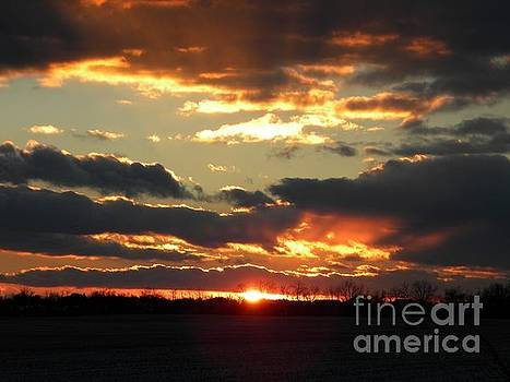 Christmas Sunset by Kristy Evans