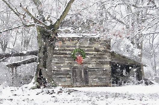 Christmas Tobacco Barn by Benanne Stiens
