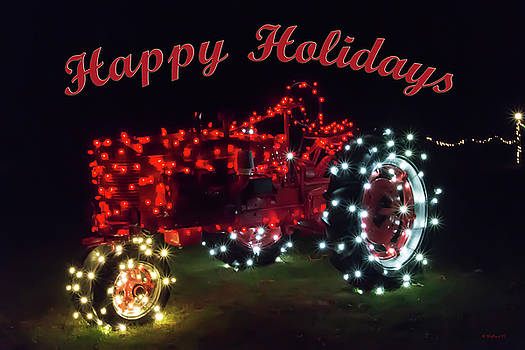 Christmas Tractor - Happy Holidays by Brian Wallace