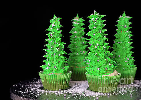 Christmas Tree Cupcakes by Tracy Hall