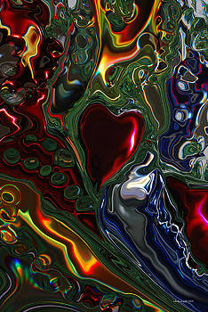 Michelle  BarlondSmith - Christmas Tree Heart Abstract