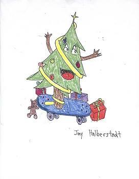 Christmas Tree on Skateboard by Jayson Halberstadt