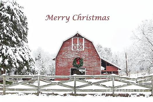 Christmas Wreath Barn by Benanne Stiens