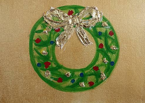 Christmas Wreath by Judy Jones
