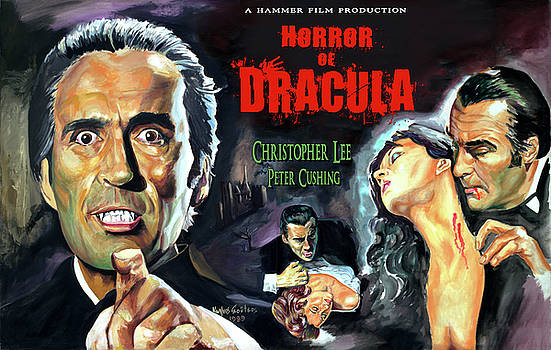 Christopher Lee, Horror of Dracula movie poster by Spiros Soutsos