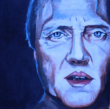 Christopher Walken Portrait by Mikayla Ziegler