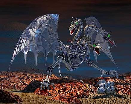 Chrome Dragon 3D by John DiLauro