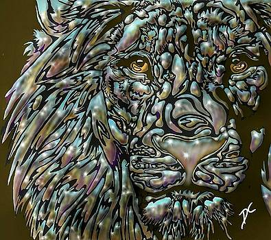 Chrome Lion by Darren Cannell