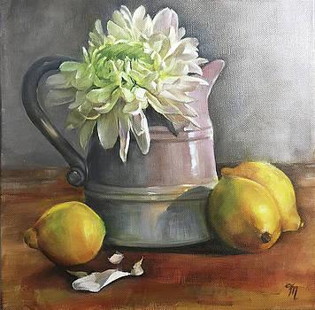 Chrysanthemum and Lemons by Trish Mitchell