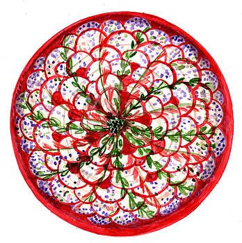 chrysanthemum Botanical Mandala by Louise Gale
