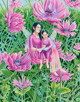 Chrysanthemum Fairy Mum and Child by Rachel Armington