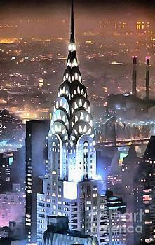 Chrysler Building at Night by Mick Flynn