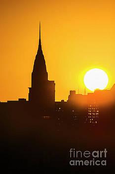 Regina Geoghan - Chrysler Building Silhouette and Rising Sun
