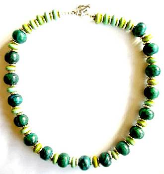 Chrysocolla with Chartreuse by Pat Stevens