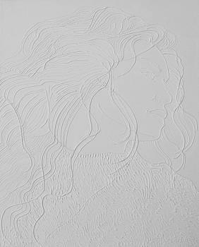 Chubby Girl in Her Hair by Juan Alcantara