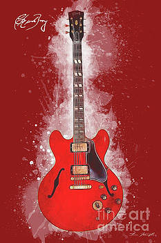 Chuck Berry Guitar by Tim Wemple