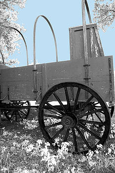 Chuck Wagon against Blue Skys by Walter E Koopmann