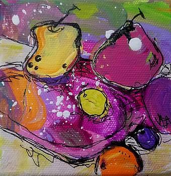 Chunky Fruit Plate by Terri Einer