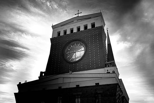 Colin Cuthbert - Church and Clock in Black and White