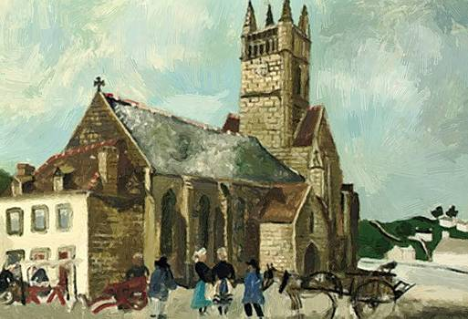 Wood Christopher - Church And Market Brittany 1930