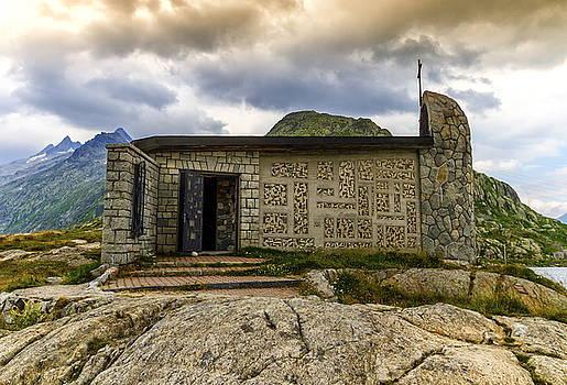 Elenarts - Elena Duvernay photo - Church at the grimselpass, Bern canton, Switzerland