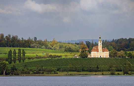 Church Birnau Lake Constance in great landscape by Matthias Hauser