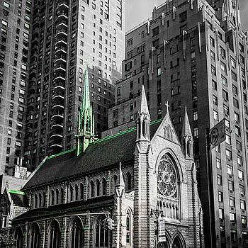 Church caught in Manhattan by Maximilian Wollrab