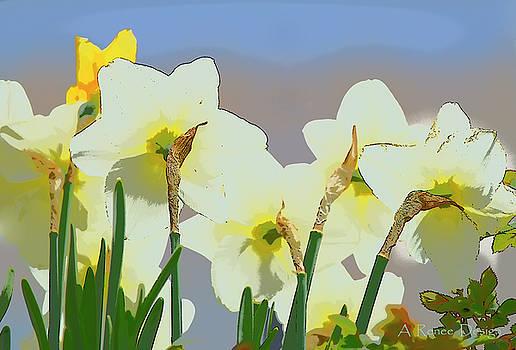 Church Daffodils by Renee Marie Martinez