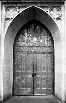 Church Doors at Boys Town by Tiffany Dawn Smith
