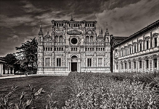 Church facade in B and W by Roberto Pagani