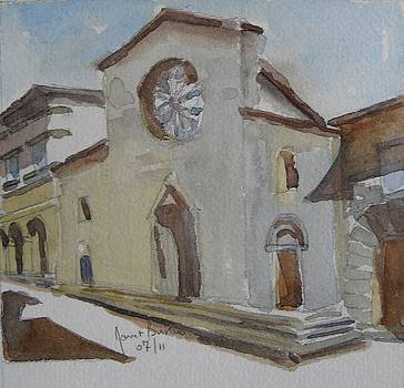 Church Facade by Janet Butler