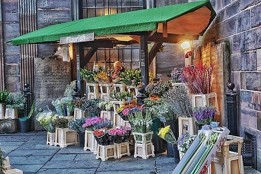 Church Flower Seller in Manchester by Steffani Cameron