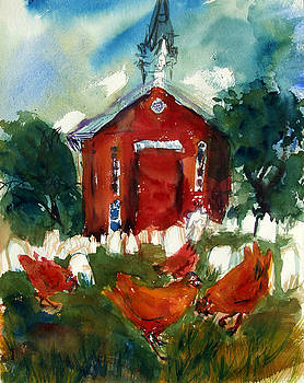 Church Hens by Diana Ludwig