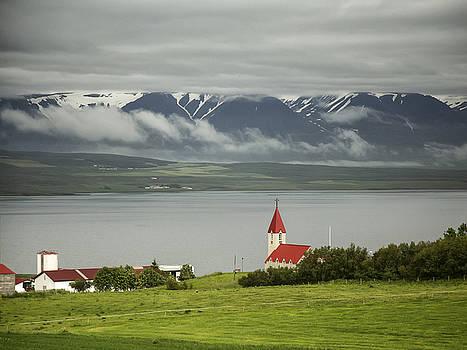 Church in Akureyri by Cheryl Strahl