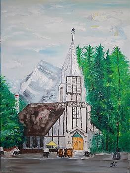 James Bryron Love - Church in Banff