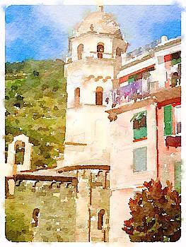 Church in Cinque Terre by Kenna Westerman