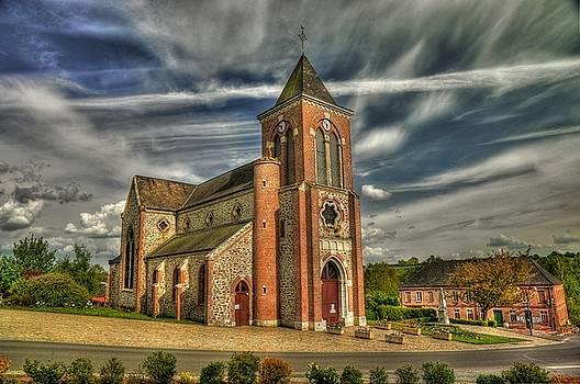 Church in La Neuvilles aux Joutes by Hans Kool