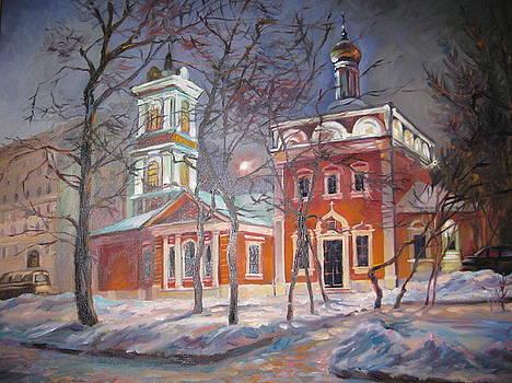 Church in Moscow by Ekaterina Pozdniakova